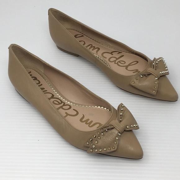 c9d122baca885 Sam Edelman Raisa Pointy Toe Spiked Bow Flats. M 5a41323c8df47026df02ec71